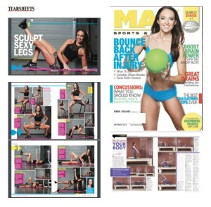 fitness model tear sheets